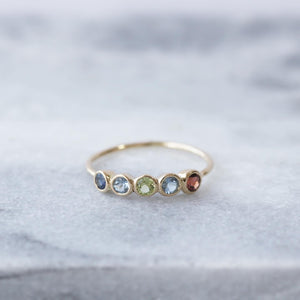 customer order<br>family birth stone ring