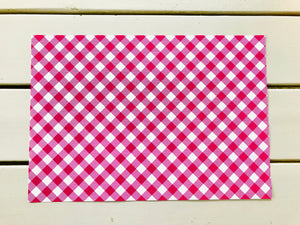 Gingham Paper Placemats (7 colors available)