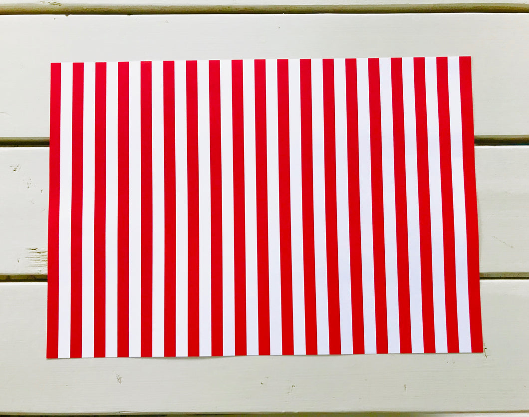 Classic Red and White Stripes Placemats