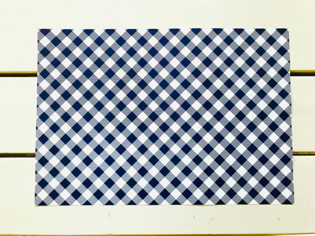 Navy Gingham Placemats