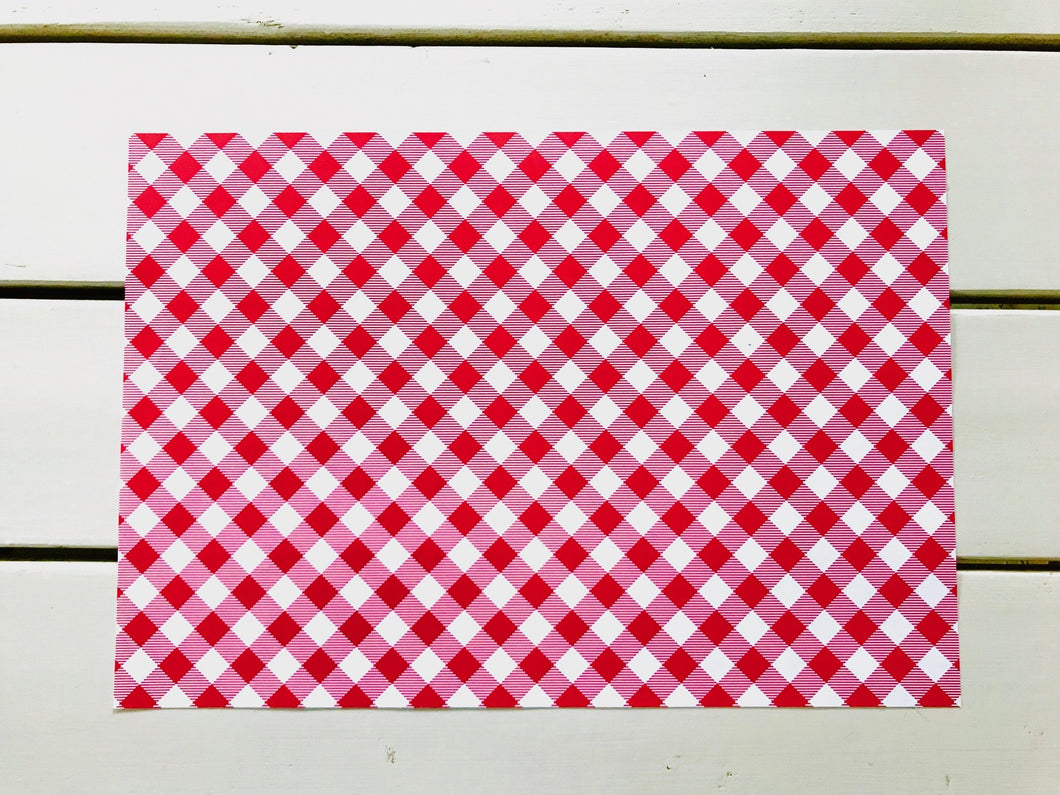 Red Gingham Placemats