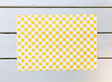 Load image into Gallery viewer, Sunshine Yellow Gingham Placemats