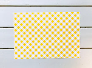 Sunshine Yellow Gingham Placemats