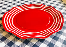 Load image into Gallery viewer, Wavy Red Salad Plates