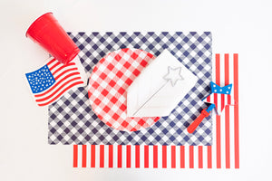 Patriotic Gingham Placemats (2 colors available)