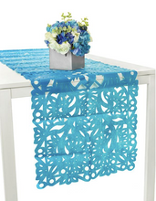Load image into Gallery viewer, Papel Picado Reusable Cloth Handcut Table Runner
