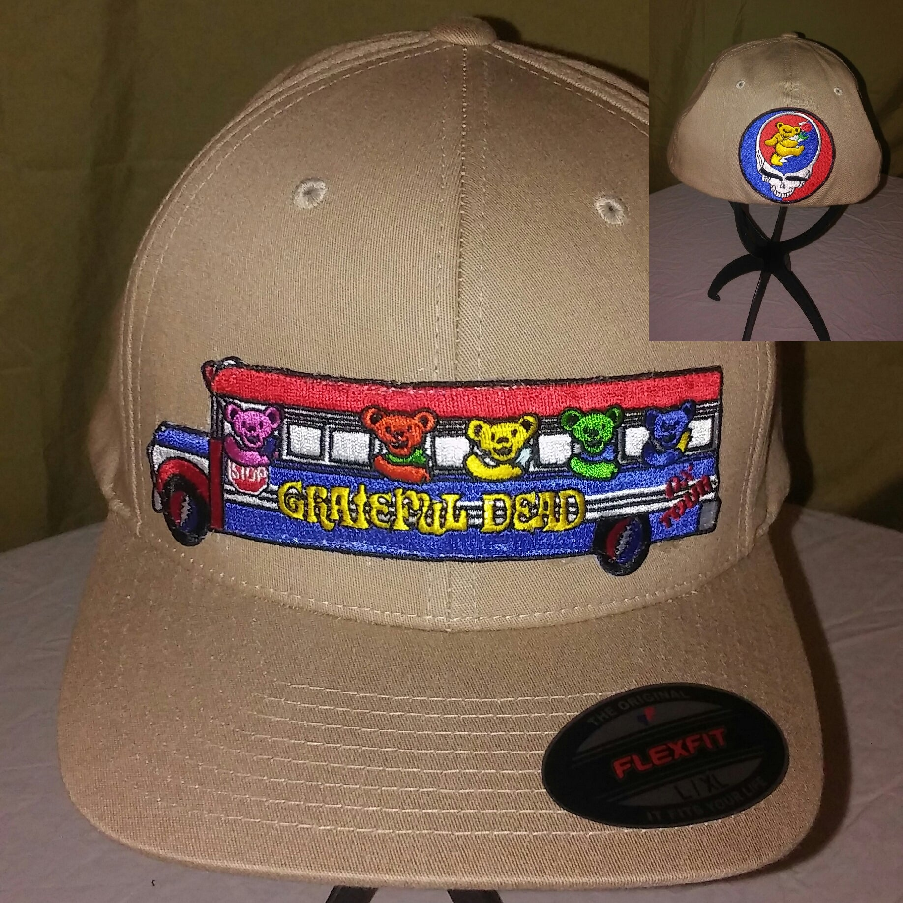 GRATEFUL DEAD DANCING BEARS TOUR BUS HAT