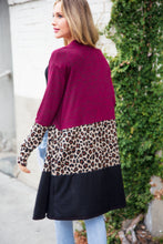 Load image into Gallery viewer, Color Block + Leopard Pocket Cardi
