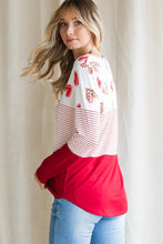 Load image into Gallery viewer, Valentine Heart & Stripe Mix Top - Size S