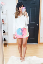 Load image into Gallery viewer, Tie Dye Dolphin Hem Shorts - Lavender Latte Boutique