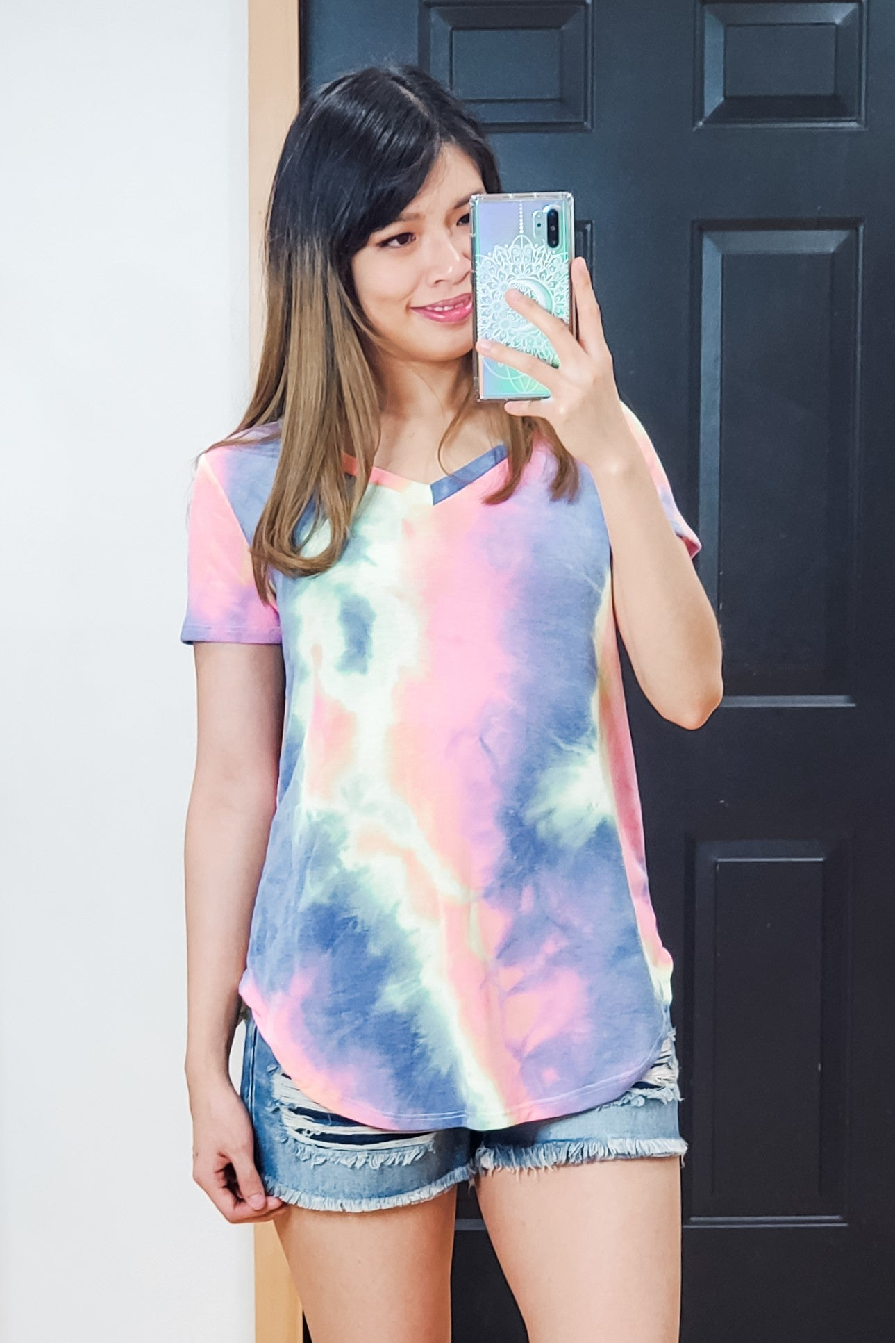 Tie Dye Easy Tee - Lavender Latte Boutique