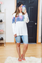 Load image into Gallery viewer, Tie Dye Colorblock Tee