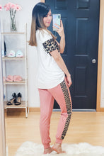 Load image into Gallery viewer, Leopard Stripe Favorite Joggers - Lavender Latte Boutique
