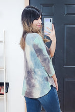 Load image into Gallery viewer, Tie Dye V Neck Empire Ruffle Top