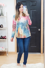 Load image into Gallery viewer, Tie Dye Boho Easy Tee - Size S