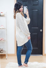 Load image into Gallery viewer, Sequin Cocoon Cardigan