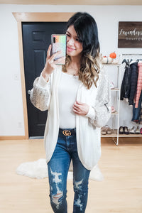Sequin Cocoon Cardigan