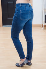 Load image into Gallery viewer, Button Fly Patch Pocket Skinny Jeans