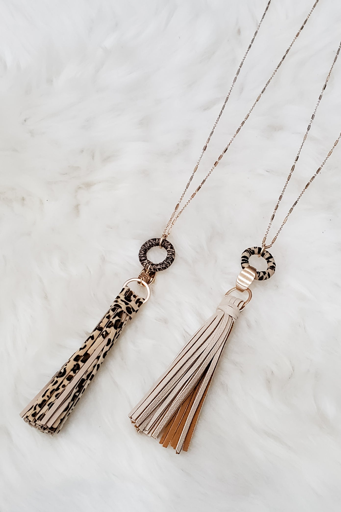 Vegan Leather Tassel Necklace