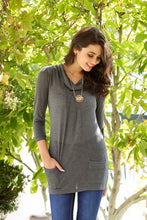 Load image into Gallery viewer, Cowl Neck Pocket Knit Tunic