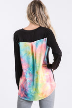 Load image into Gallery viewer, Tie Dye Contrast Back Tee - Lavender Latte Boutique