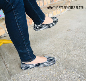 Houndstooth Suede Storehouse Flats - Lavender Latte Boutique