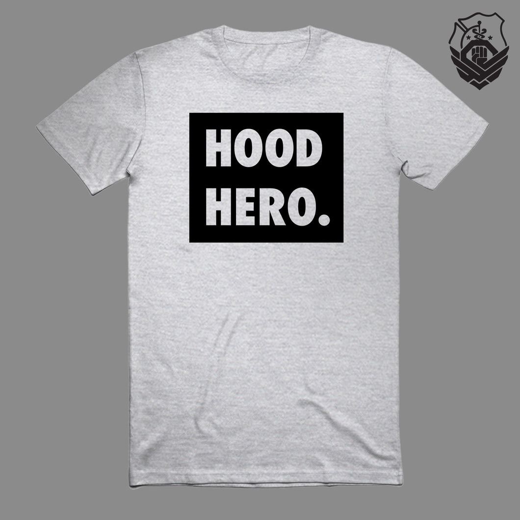Hood Hero. Box T-Shirt (Grey)