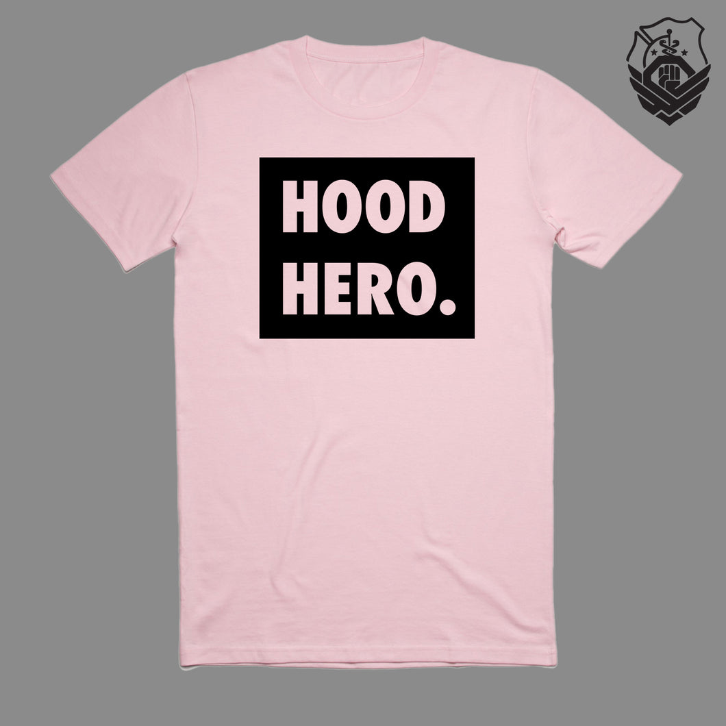 Hood Hero. Box T-Shirt (Pink)