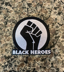 Black Heroes Fist Patch