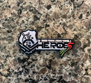 Black Heroes Pan African Logo Patch
