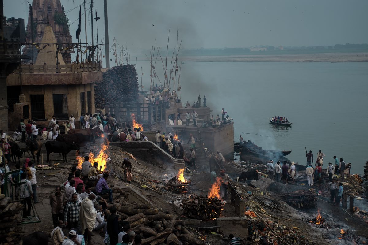 Cremation Ground, Manikarnika Ghat, Varanasi