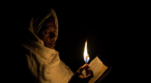 Pilgrim with Candle, Lalibela