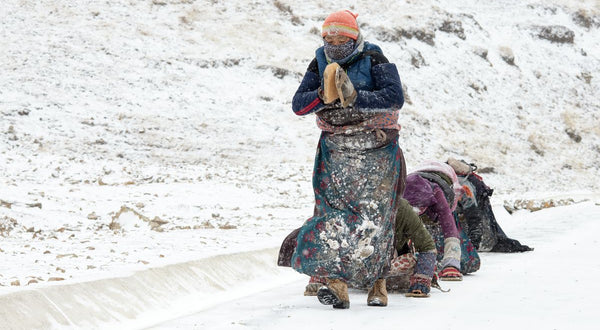 Pilgrims and Prostrations, Amdo, Tibet