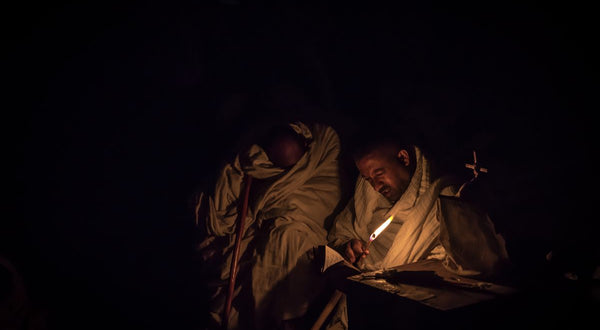 Pilgrims with Candle, Lalibela