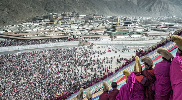 The Sunning of the Buddha, Amdo, Tibet