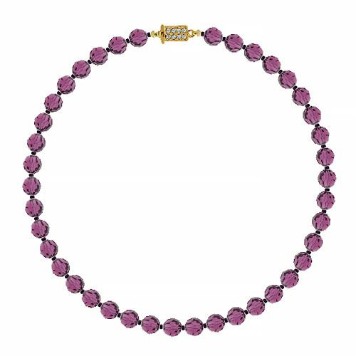 Customizable Amethyst Crystal Bead Necklace