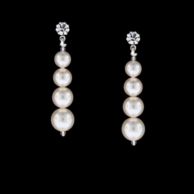 Graduated Pearl Earrings - custom lengths