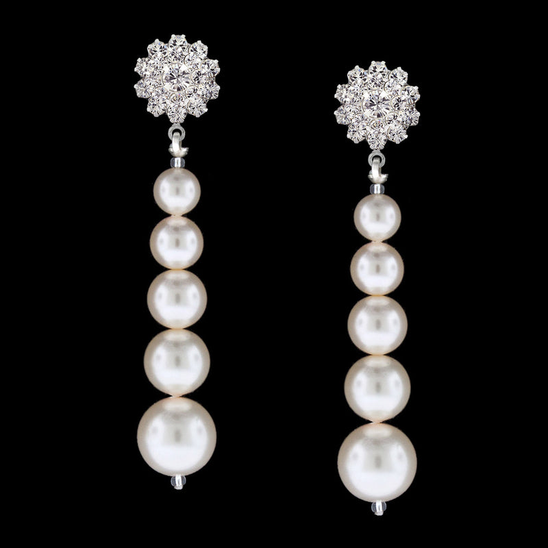 earrings with cream swarovski pearls - PPOE-74