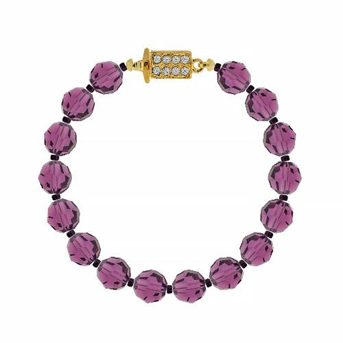 customizable amethyst crystal bracelet