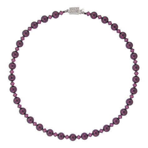amethyst pearl necklace - PPO-33