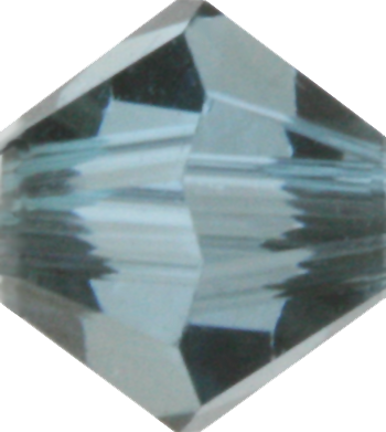 Aquamarine Satin Crystal Bead