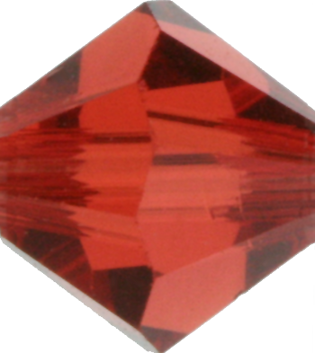 Indian Red Crystal Bead