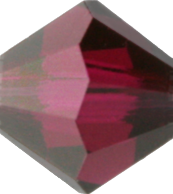 Ruby Satin Crystal Bead