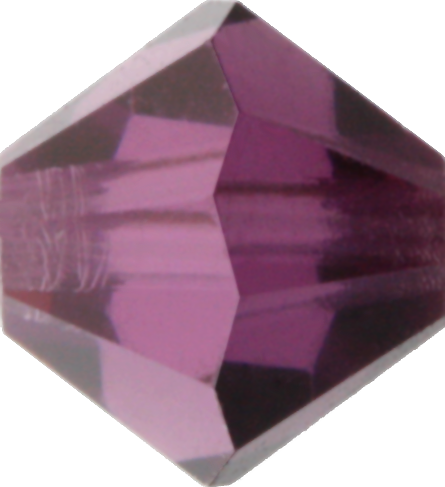 Amethyst Satin Crystal Bead