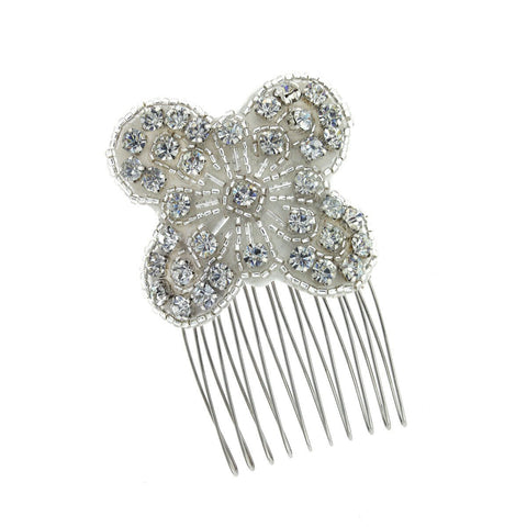 Beaded Applique Haircomb