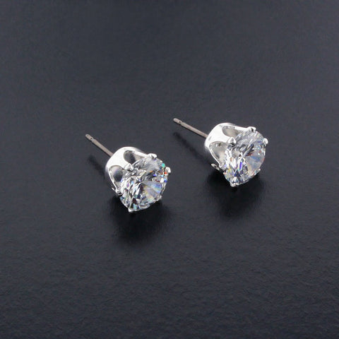 9mm CZ Stud Earrings