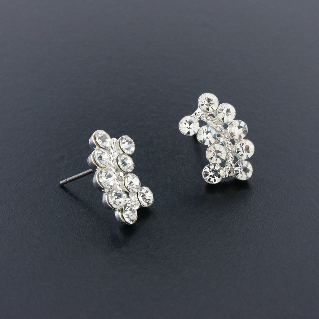 Curved Crystal Earrings