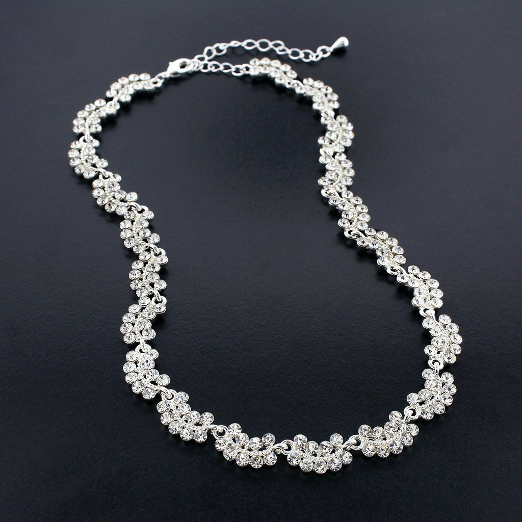 Scalloped Crystal Necklace