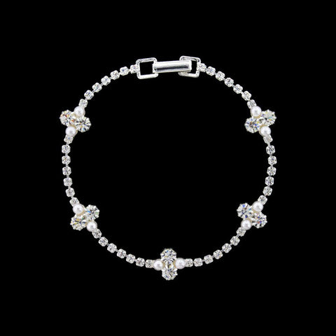 Rhinestone Bracelet with Small Clusters