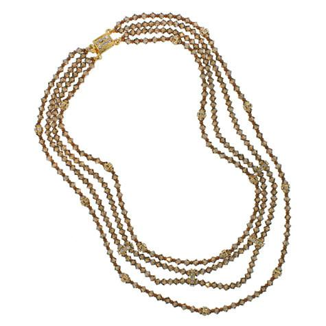 4-Row Swarovski Crystal Beaded Necklace - HOL132N